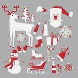 Icone di inverno Fotografie Stock
