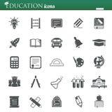 Icone di istruzione Fotografia Stock Libera da Diritti