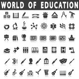 Icone di istruzione Fotografie Stock Libere da Diritti