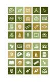 20 icone di istruzione Fotografia Stock Libera da Diritti