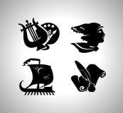 Icone di istruzione di vettore royalty illustrazione gratis
