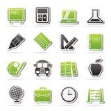 Icone di istruzione e della scuola Immagine Stock