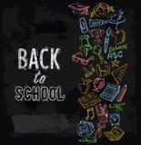 Icone di istruzione messe Fotografia Stock