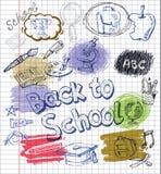 Icone di istruzione messe Immagini Stock