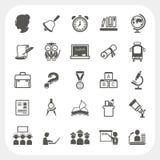 Icone di istruzione messe Immagine Stock Libera da Diritti