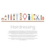 Icone di lavoro di parrucchiere messe Fotografia Stock