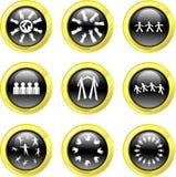 Icone di lavoro di squadra illustrazione vettoriale