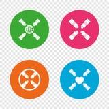 Icone di lavoro di squadra Simboli delle mani amiche Fotografie Stock Libere da Diritti