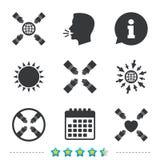 Icone di lavoro di squadra Simboli delle mani amiche Fotografia Stock