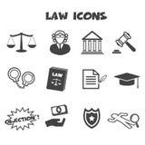 Icone di legge Fotografia Stock
