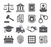 Icone di legge Immagini Stock