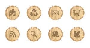 Icone di legno Fotografia Stock