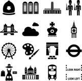Icone di Londra Fotografia Stock Libera da Diritti