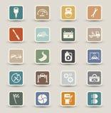 Icone di manutenzione di servizio dell'automobile Immagini Stock