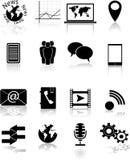 Icone di media Fotografia Stock