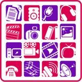 Icone di media Fotografie Stock Libere da Diritti