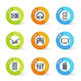 Icone di media del gel (vettore) royalty illustrazione gratis