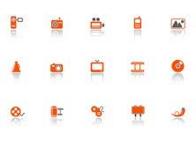 Icone di media e di Web Fotografie Stock