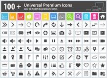 Icone di media, icone di web, icone della freccia, mettenti le icone, icone della nuvola, Fotografia Stock Libera da Diritti