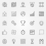 Icone di motivazione messe Fotografie Stock
