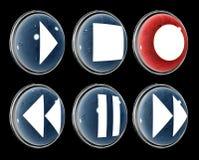 Icone di multimedia illustrazione di stock