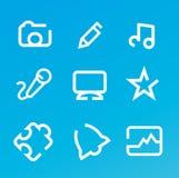 Icone di multimedia Fotografie Stock
