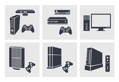 Icone di multimedia Immagini Stock