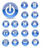 Icone di multimedia Immagine Stock