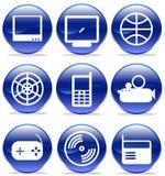 Icone di multimedia, Immagine Stock Libera da Diritti