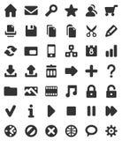 Icone di multimedia e di Web Fotografia Stock Libera da Diritti