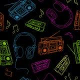 Icone di musica Fotografia Stock