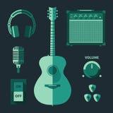 Icone di musica Immagine Stock Libera da Diritti