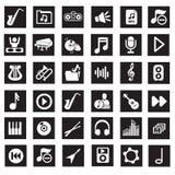 Icone di musica Immagini Stock Libere da Diritti