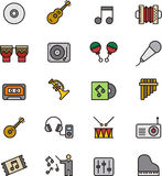 Icone di musica illustrazione di stock