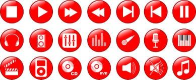 Icone di musica impostate illustrazione vettoriale