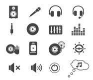 Icone di musica messe Fotografia Stock