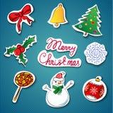 Icone di Natale impostate. Illustrazione di vettore Immagini Stock Libere da Diritti