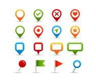Icone di navigazione Immagini Stock Libere da Diritti