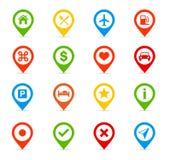 Icone di navigazione - illustrazione Fotografia Stock