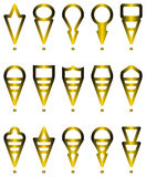Icone di navigazioni Immagini Stock