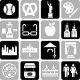 Icone di New York Fotografia Stock Libera da Diritti