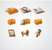 Icone di notizie Immagine Stock