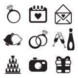 Icone di nozze Immagine Stock