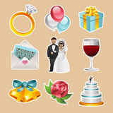 Icone di nozze di vettore Immagini Stock Libere da Diritti