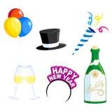 Icone di nuovo anno Immagine Stock