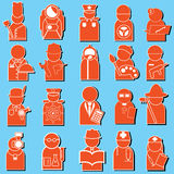 Icone di occupazione Fotografia Stock Libera da Diritti