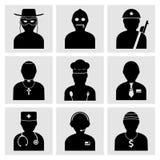 Icone di occupazioni della gente Fotografia Stock