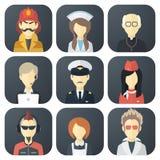 Icone di occupazioni messe Fotografia Stock Libera da Diritti