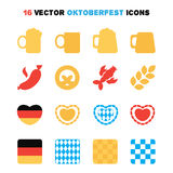 Icone di Oktoberfest messe Fotografie Stock