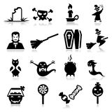 Icone di orrore Immagini Stock Libere da Diritti